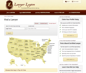 Lawyer Legion Directory of Board Certified Attorneys