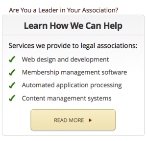 Website Design for Legal Assocations and Specialty Bar Assocations