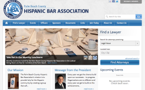 Website Design for Specialty Bar Association